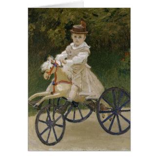 Jean Monet em seu cavalo do passatempo Cartões