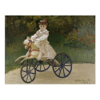 Jean Monet em seu cavalo do passatempo Cartao Postal