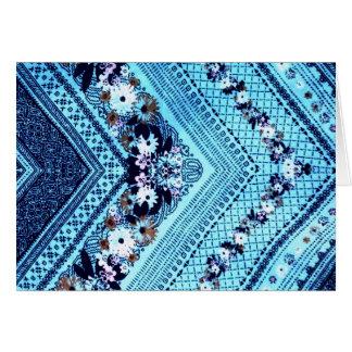 Jeans azuis da seta cartão comemorativo