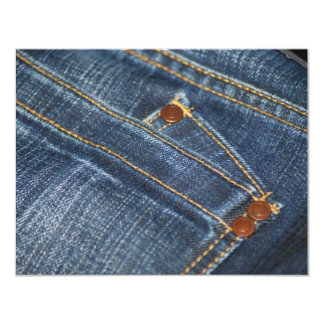 Jeans Convite 10.79 X 13.97cm