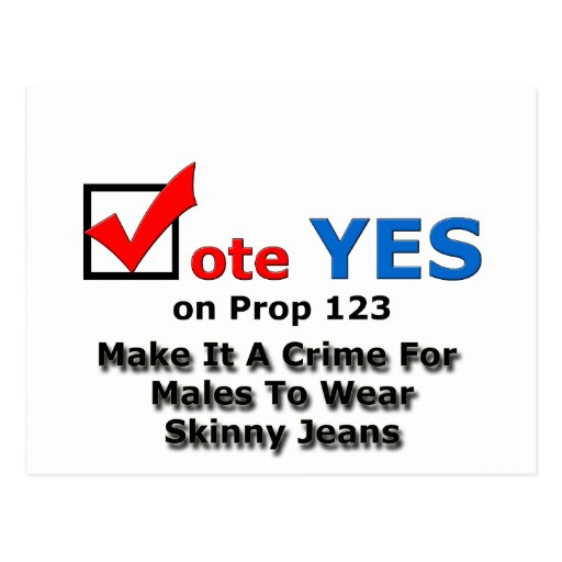 Jeans magros cartao postal