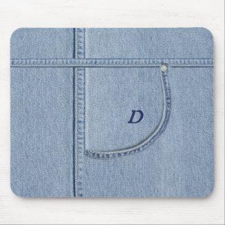 """""""Jeans"""" Mousepad com (ou sem) sua inicial"""