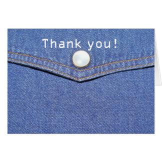 Jeans - Thank You Card Cartão Comemorativo