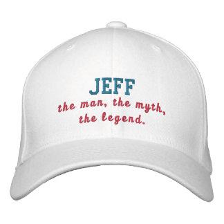 Jeff o homem boné bordado
