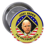 Jerry Brown para o presidente 2016 Pins