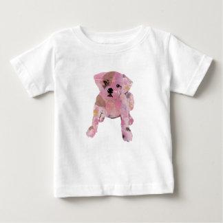 Jérsei branco da multa da camisa do bebê T do