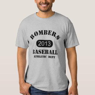 Jérsei da prática dos bombardeiros - número 7 tshirts