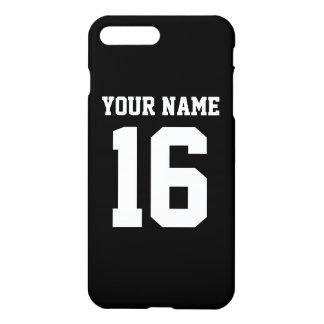 Jérsei de equipe desportivo preto capa iPhone 7 plus