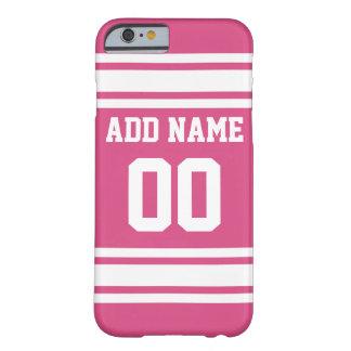 Jérsei dos esportes com nome e número - branco capa barely there para iPhone 6
