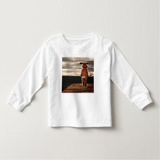 Jérsei longo da luva da criança do coelhinho da t-shirts