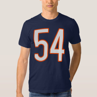 Jérsei número 54 camiseta