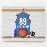 Jérsei personalizado do basquetebol (LBO) Mouse Pads