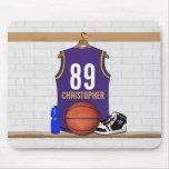 Jérsei personalizado do basquetebol (PÁGINA) Mousepad