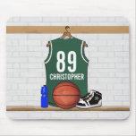 Jérsei verde e branco personalizado do basquetebol