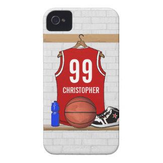 Jérsei vermelho e branco personalizado do capinha iPhone 4