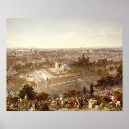 Jerusalem em sua grandiosidade, gravada por Charle Pôsteres