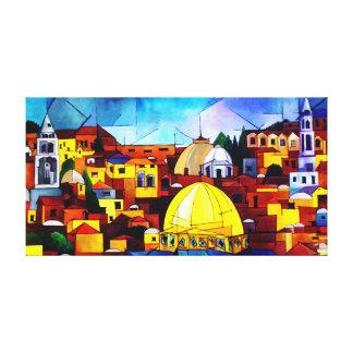 Jerusalem Impressão Em Tela