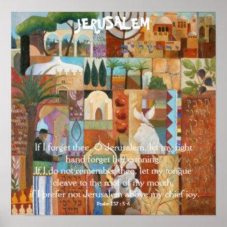 JERUSALEM, se eu esqueço o thee, O Jerusalem, deix Poster