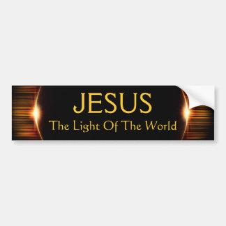 Jesus, a luz do mundo adesivo para carro
