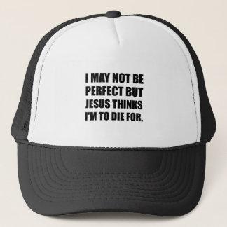 Jesus a morrer para boné