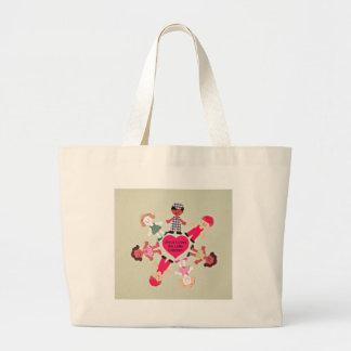 Jesus ama as crianças pequenas bolsa de lona