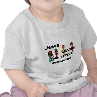Jesus ama as crianças pequenas camiseta