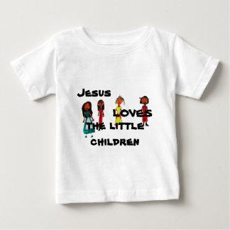 Jesus ama as crianças pequenas camiseta para bebê