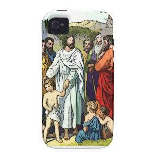 Jesus ama as crianças pequenas capinhas para iPhone 4/4S