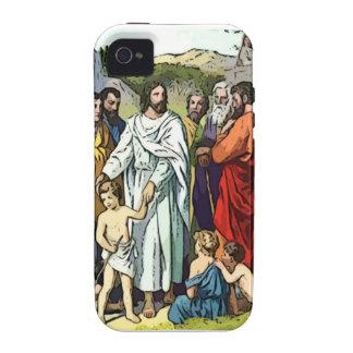Jesus ama as crianças pequenas capa para iPhone 4/4S