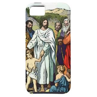 Jesus ama as crianças pequenas capas para iPhone 5