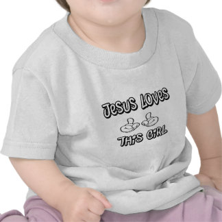 Jesus ama esta menina t-shirt