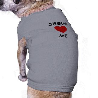 Jesus ama-me camisa sem mangas para cachorro