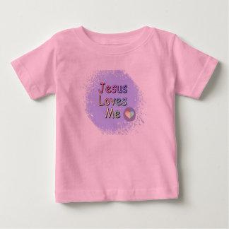 Jesus ama-me camiseta para bebê