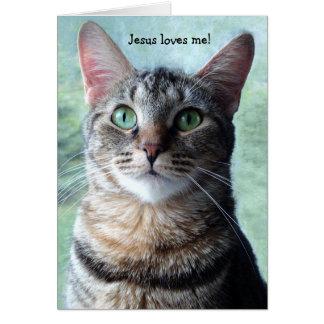 Jesus ama-me cartão do gato