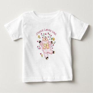 Jesus ama-me cordeiro da dança camiseta para bebê