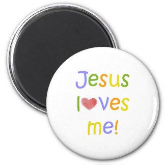 Jesus ama-me ímã ímã redondo 5.08cm