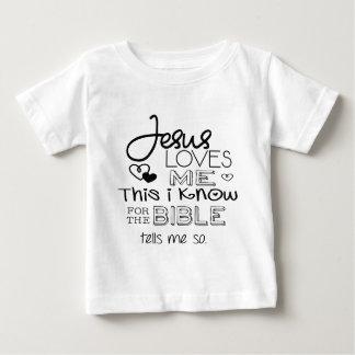 Jesus ama-me isto que eu sei camiseta para bebê