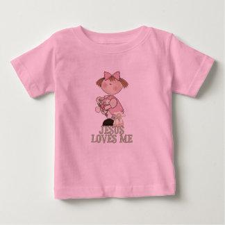 Jesus ama-me menina camisetas