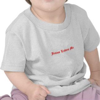 Jesus ama-me t-shirt do bebê