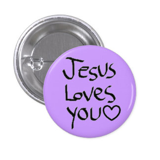 Jesus ama-o bóton redondo 2.54cm