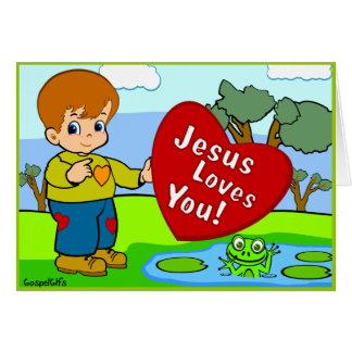 Jesus ama-o cartão comemorativo