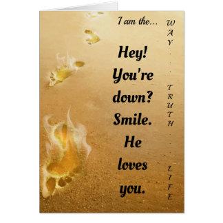 Jesus ama-o cartão de cumprimentos espiritual