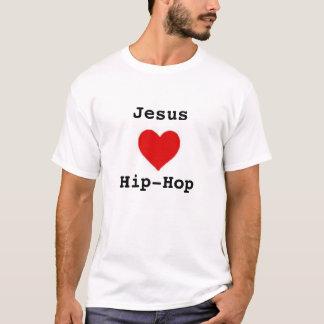 jesus ama o hip-hop com elementos sobre para trás camiseta