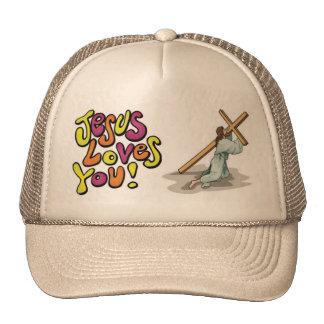 Jesus ama-o imagem do chapéu boné
