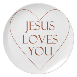 Jesus ama-o louça de jantar