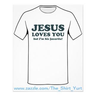 Jesus ama-o mas eu sou seu favorito panfletos personalizado