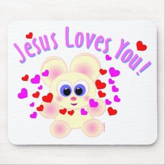 Jesus ama-o! mouse pad