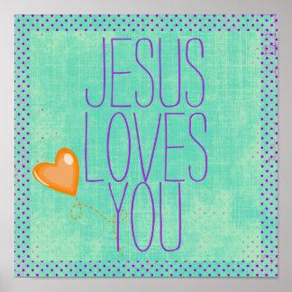 Jesus ama-o pôsteres