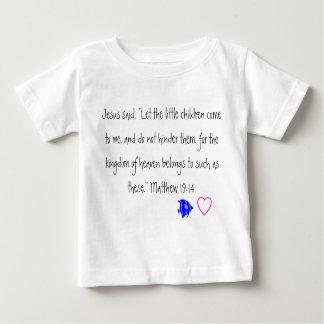 Jesus ama o tshirt da criança das crianças camiseta para bebê
