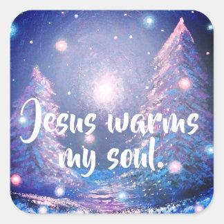 Jesus aquece minha etiqueta cristã do planejador